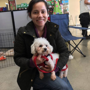 Mopsy is going to have a loving home with her new Mom