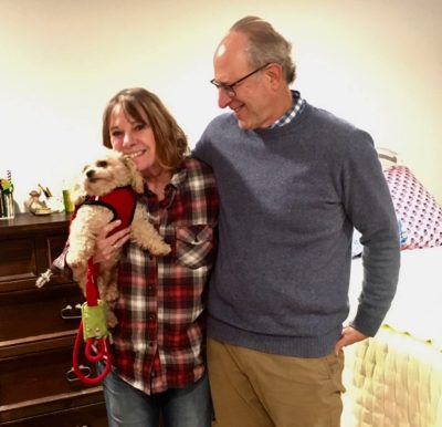 Benji chose his family. He had so many people to choose from but he fell for this couple the moment he saw them