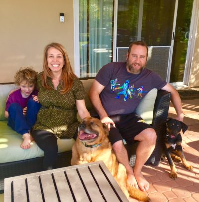 We love it when our adopters come back for thirds! Kona will never replace Dabble in their hearts, but they made a place for her in their home