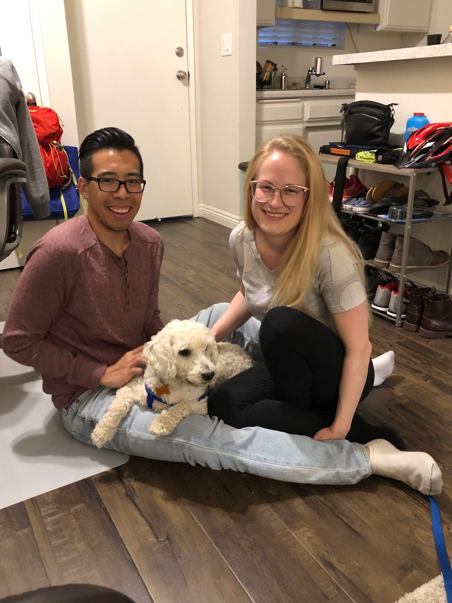 After living in a van for many years, Curly is absolutely thrilled with his new life with Anna and Jonathan