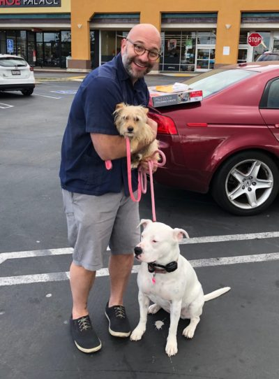 Vivian is really happy she got adopted by Matt, Peppur and Molly. Really....she is. :)