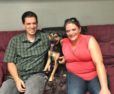 Churro finally found what he was looking for.....a perfect home with a couple who would treat him like a king.