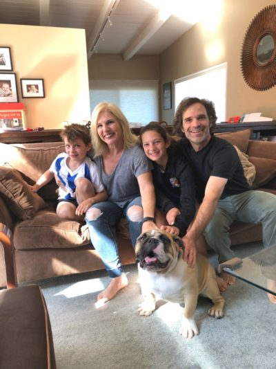 What can we say? Who has the biggest smile? Nitro or his family. He's going to be a mascot for two soccer teams!