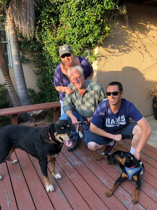 River is living with Sammy who was adopted from Dawg Squad seven years ago. We love it when people come back for seconds!