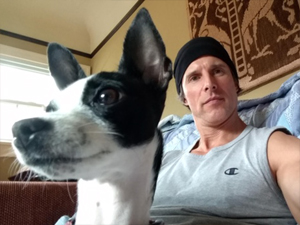 Cozy likes taking selfies with her new Dad