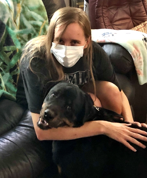 Joe...one of the kindest dogs ever is going to help his new person with the loss of her Mom